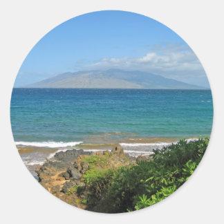 Crystal Blue Beach Stickers