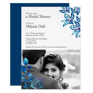Crystal Blue Bridal Shower Invitation