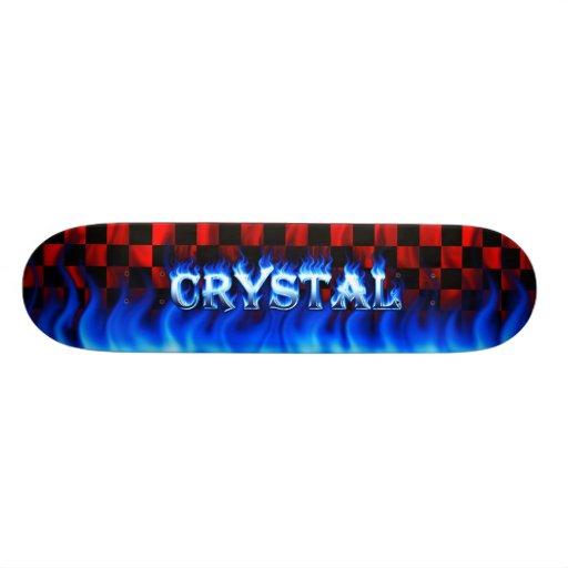 Crystal blue fire Skatersollie skateboard.