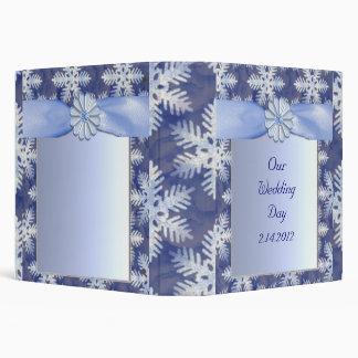 Crystal Blue Snowflake Celebration Vinyl Binder
