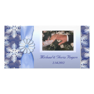 Crystal Blue Snowflake Celebration Card