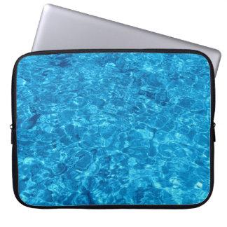 Crystal Blue water Neoprene Laptop Sleeve 15 inch