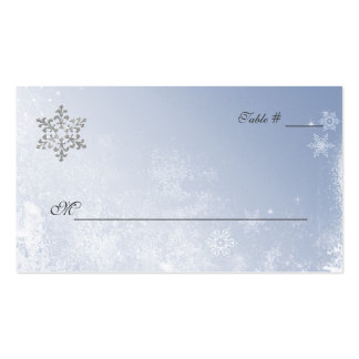 Crystal Blue Winter Wedding Place Cards Business Cards