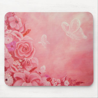 Crystal Butterflies Mouse Pad