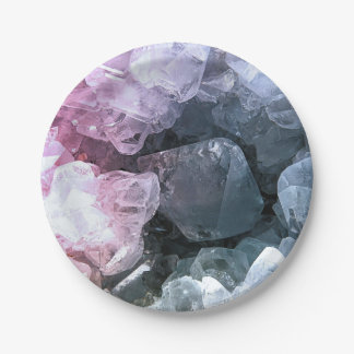 Crystal Cave Paper Plate