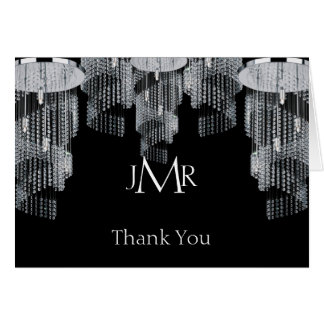 Crystal Chandelier 15th Anniversary Thank You Card