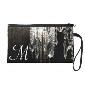Crystal Chandelier Chic Make Up Bag Tote Purse Wristlet Purse
