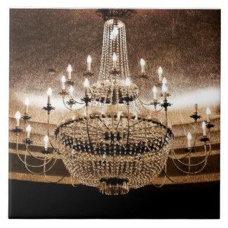 Crystal Chandelier Dazzle Glitz Glam Display Tile