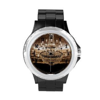 Crystal Chandelier Dazzle Glitz Glam Glamour Watch