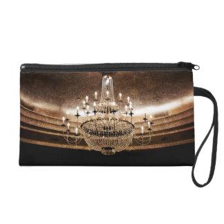 Crystal Chandelier Dazzle Make Up Bag Tote Purse Wristlet Clutch