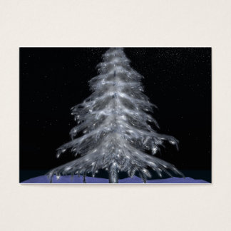 "Crystal Christmas Tree #3 Business Cards 3.5""x2.5"""