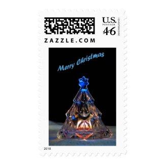 Crystal Christmas Tree 3 Postage Stamp