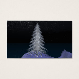 Crystal Christmas Tree #4 Business Cards 100 Pack