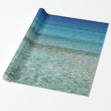 millhill Crystal Clear Blue Ocean Water Gift Wrap