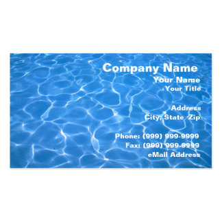 Crystal Clear Blue Water Business Card