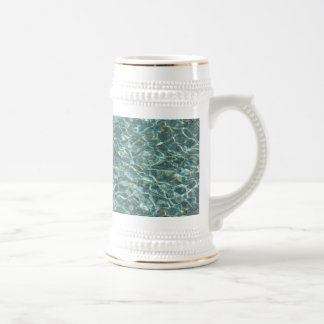 Crystal Clear Blue Water Surface Reflections Beer Stein