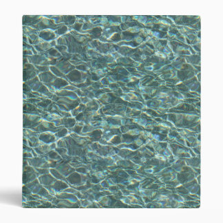 Crystal Clear Blue Water Surface Reflections Binders