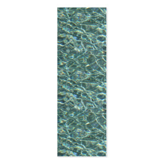 Crystal Clear Blue Water Surface Reflections Double-Sided Mini Business Cards (Pack Of 20)