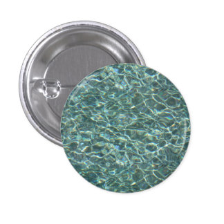 Crystal Clear Blue Water Surface Reflections Pinback Button