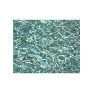 Crystal Clear Blue Water Surface Reflections Gallery Wrapped Canvas