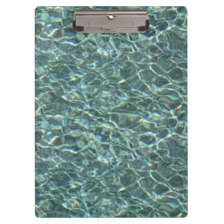 Crystal Clear Blue Water Surface Reflections Clipboards