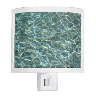 Crystal Clear Blue Water Surface Reflections Nite Lite