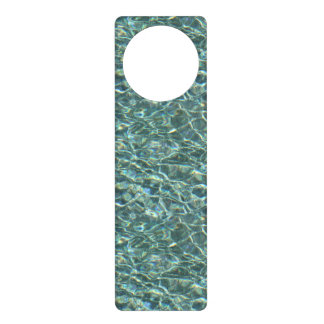 Crystal Clear Blue Water Surface Reflections Door Hangers
