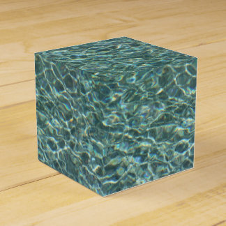 Crystal Clear Blue Water Surface Reflections Party Favor Boxes