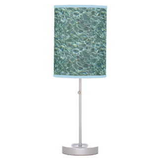 Crystal Clear Blue Water Surface Reflections Desk Lamp