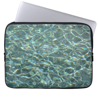 Crystal Clear Blue Water Surface Reflections Computer Sleeves