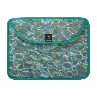 Crystal Clear Blue Water Surface Reflections Sleeve For MacBooks
