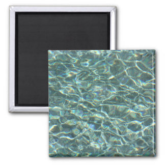 Crystal Clear Blue Water Surface Reflections Fridge Magnet