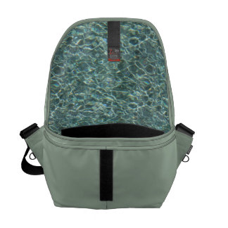 Crystal Clear Blue Water Surface Reflections Courier Bags