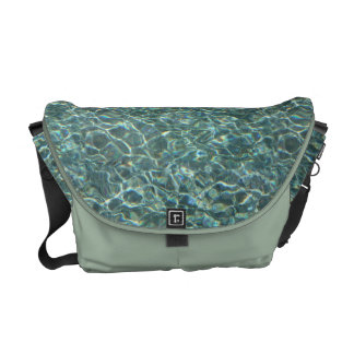 Crystal Clear Blue Water Surface Reflections Messenger Bags