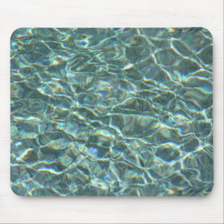 Crystal Clear Blue Water Surface Reflections Mouse Pad