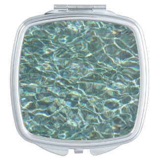 Crystal Clear Blue Water Surface Reflections Makeup Mirrors