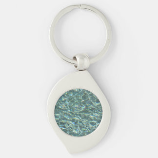 Crystal Clear Blue Water Surface Reflections Keychains