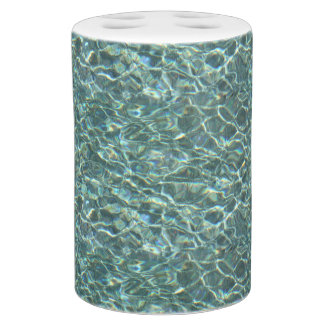 Crystal Clear Blue Water Surface Reflections Bath Sets