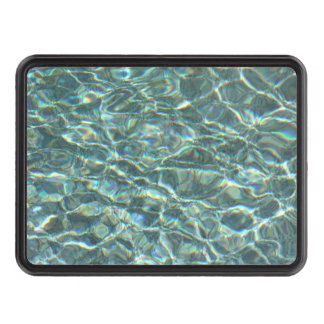 Crystal Clear Blue Water Surface Reflections Tow Hitch Covers