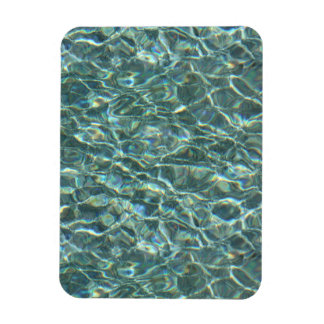 Crystal Clear Blue Water Surface Reflections Rectangle Magnets
