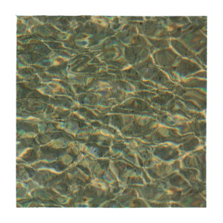 Crystal Clear Blue Water Surface Reflections Coasters