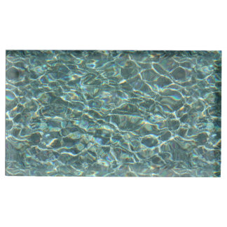 Crystal Clear Blue Water Surface Reflections Table Card Holders