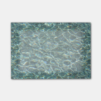 Crystal Clear Blue Water Surface Reflections Post-it® Notes