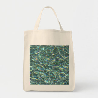 Crystal Clear Blue Water Surface Reflections Tote Bag