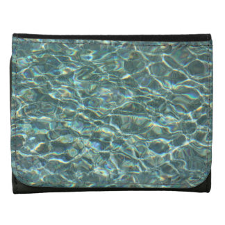 Crystal Clear Blue Water Surface Reflections Wallet