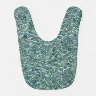 Crystal Clear Blue Water Surface Reflections Baby Bibs