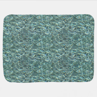 Crystal Clear Blue Water Surface Reflections Baby Blankets