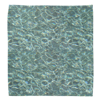 Crystal Clear Blue Water Surface Reflections Bandana