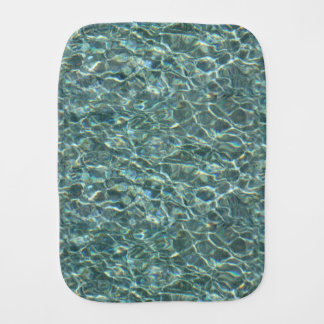 Crystal Clear Blue Water Surface Reflections Burp Cloth