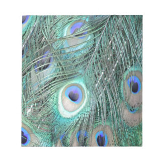 Crystal Clear Peafowl Feathers Notepad